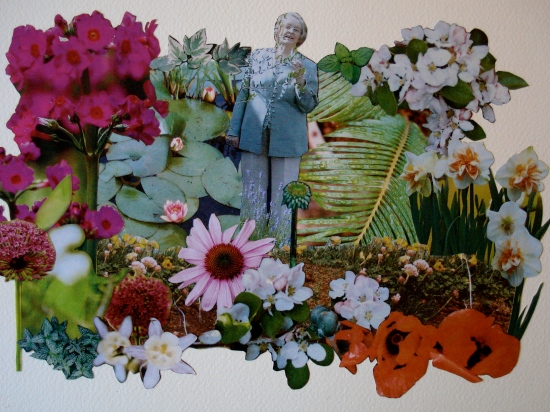 """secret garden"", 2014, collaged paper, 14"" x 10"""